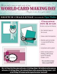 world card making day paper wishes blog