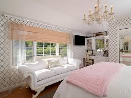 White Bedroom Gold Accents Light And Bright Window Treatments Hgtv U0027s Decorating U0026 Design