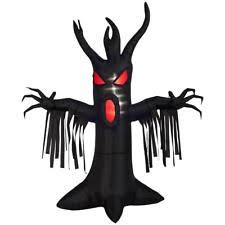 halloween inflatables 9 ft animated reaching tree scary yard blow