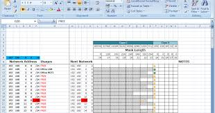Ip Address Spreadsheet Template Calvin So S It Memo Ip Address Management Excel Tool