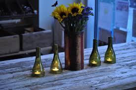 lights made out of wine bottles hurricane tea lights made out of wine bottle tops perfect to keep