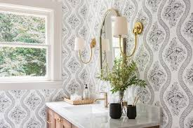 Black And White Wallpaper For Bathrooms - rooms viewer hgtv