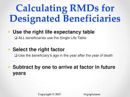 rmd single life table ira planning for baby boomers what every advisor needs to know now