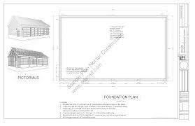 Garage Plans With Workshop G442 30 X 50 X 12 8 12 Pitch Workshop Garage Plans Blueprints