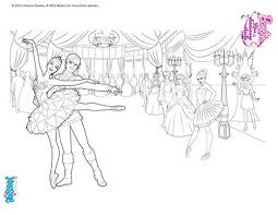 Coloriage Barbie Reve de Danseuse Etoile Barbie danseuse a imprimer