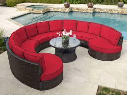 Patio Furniture Resin Wicker by San Lucas 6 Pc Aluminum U0026 Woven Resin Wicker Circular Seating