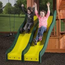 backyard discovery slide cedar play park wooden swing set