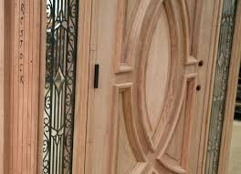 Exterior Door Sweeps by Exterior Wood Doors With Wrought Iron Glass Sidelights
