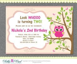 owl birthday party personalized girl owl birthday party 2nd birthday printable