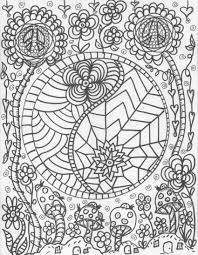 hippie coloring pages glum me