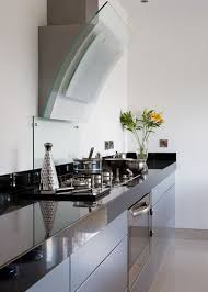 Contemporary Kitchen Cabinets For Sale by Kitchen Brilliant Long Barrel Zinc Hood With Honey Colored