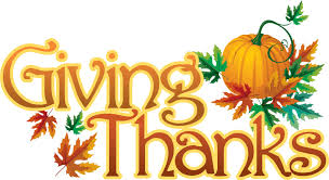 giving thanks to our supporters