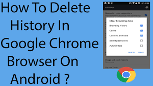 clear history android how to delete history in chrome browser on android