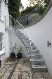 external curved staircase diy stairs maybe not all diy