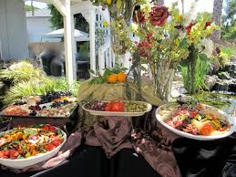 party buffet table decorating ideas on the patio stretched two