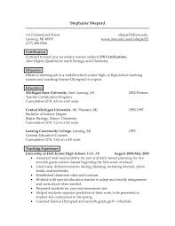 resume cover letter exle science resume doc cv exle language biology exles for