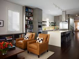 image of modern open living room kitchen designs rectangular
