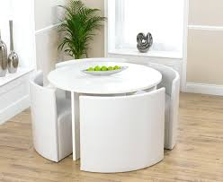 White Wooden Dining Room Chairs by Dining Table Round White Gloss Dining Table And Chairs White