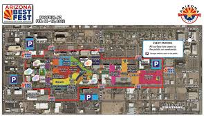 Map Of Phoenix by Arizona Best Fest Parking And Transportation