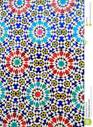 Morroco Style by Islamic Mosaic Moroccan Style Useful As Background Stock Photo