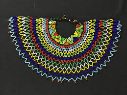 beaded collar necklace jewelry images Long zulu beaded collar choker necklace jpeg