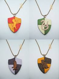 diy necklace charms images Harry potter hogwarts house polymer clay pendant necklace by jpg