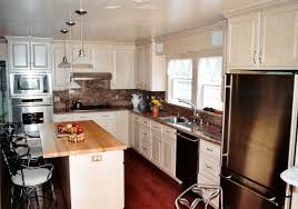 simple traditional white kitchen with rectangle shape white