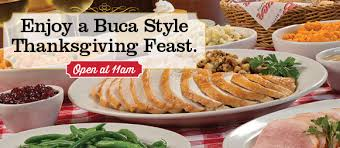 thanksgiving at buca di beppo buca restaurant s thanksgiving