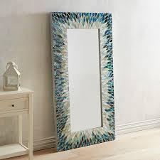 cascade mosaic floor mirror blue products pinterest mosaic