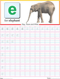 small letter e practice worksheet download free small letter e