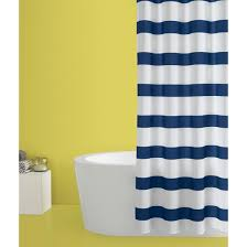 95 Inch Shower Curtain Rugby Stripe Shower Curtain White Blue Cool Room Essentials