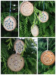 weaving wood cookie snowflakes outdoor craft pinterest
