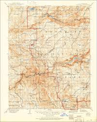 Yosemite Topo Map Scan Of The 1909 Usgs Quadrangle Of The Yosemite California Area