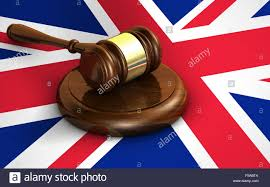 Flag Law Uk Law Justice And United Kingdom Legal System Concept With A 3d