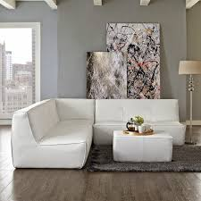 Contemporary Curved Sectional Sofa by Furniture White Curved Sectional Sofa With White Table Plus Furry