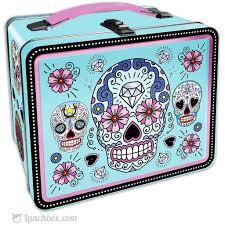 dia de los muertos sugar skulls dia de los muertos sugar skull lunchbox lunchbox