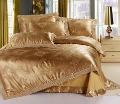 Practical Bedding Set Bedding Luxury Milk White Silk Satin Bed Sheet Set Duvet Cover