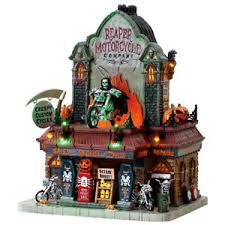 lemax spooky town lemax spooky town reaper motorcycle light up house new