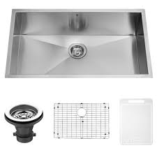 VIGO  Inch Undermount Single Bowl  Gauge Stainless Steel - Kitchen sink grid