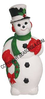 snowman holding wreath light up plastic decoration s by