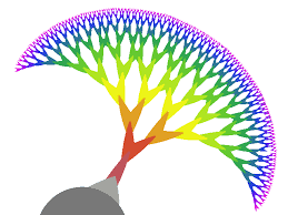 fractal tree scaffold for tissue engineering and rapid prototyping