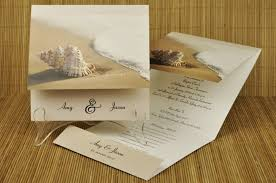 tropical themed wedding invitations theme wedding invitations rectangle potrait brown wave and