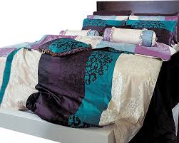 turquoise purple and black damask queen duvet cover set duvet
