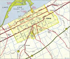 Erie Pennsylvania Map by Interstate Guide Interstate 79