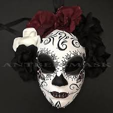 day of the dead masks new day of the dead sugar skull half with flower