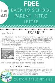 a welcome note to introduce yourself to parents at the beginning