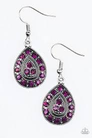purple earrings storming shimmer purple earrings paparazzi accessories 5 00