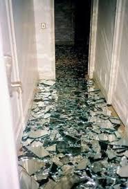 Bathroom Floor Pennies Penny Floor Concrete Base Painted Black Took Skirting Boards