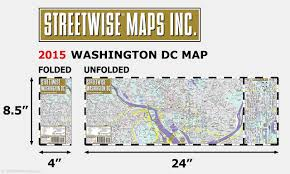Map Dc Streetwise Washington Dc Map Laminated City Center Street Map Of
