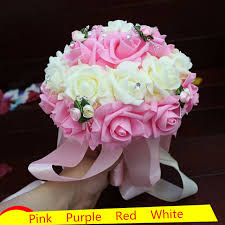 Artificial Flower Bouquets Aliexpress Com Buy Selling Artificial Wedding Bouquets Pink